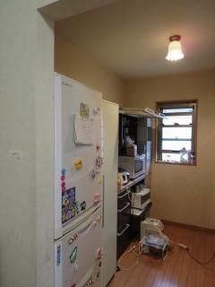 キッチン背面壁施工前