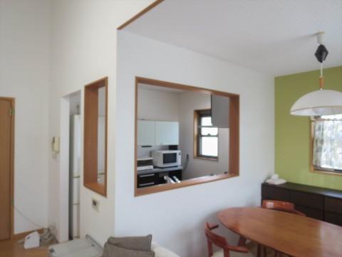 キッチン背面壁施工後