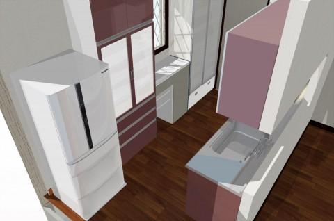 キッチン3Dイメージ3D