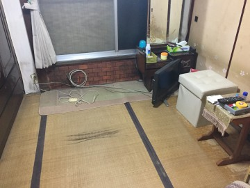 6畳と4.5畳和室をフロアタイル仕上げに