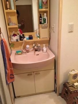 洗面所施工前
