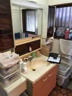 洗面台工事前
