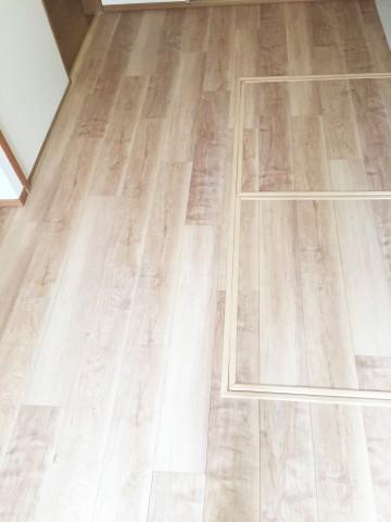 和室畳をフローリングに施工後fix