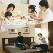 二世帯家族写真(分離型)